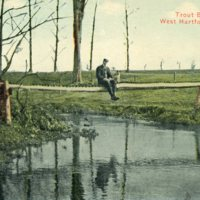 Trout Brook Pond -man sitting - 1913 - Front.jpg