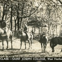 Riding Class, Saint Joseph College, West Hartford, Connecticut