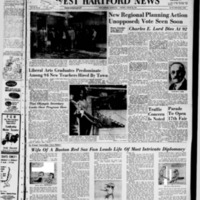 West Hartford News, vol. 15, issue 34, includes Farmington News section and the Annual American Legion Country Fair Program, August 28, 1958