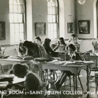 Reading Room, Saint Joseph College, West Hartford, Conn.