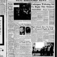 West Hartford News, vol. 15, issue 33, includes Bloomfield News and Farmington News sections, August 21, 1958